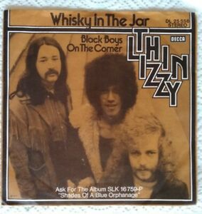 THIN-LIZZY-Mint-7-034-1973-Whisky-in-the-jar-Black-boys-Decca-DL25556-Germ