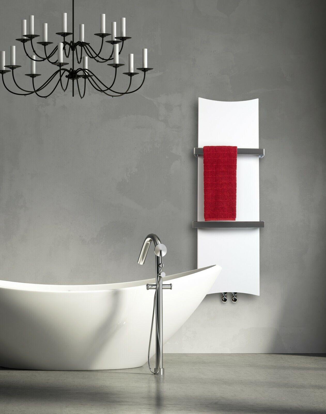 blancoo hueso Diseñador Radiador Toallero calentado 300 mm de ancho de 1200 mm de alto de baño