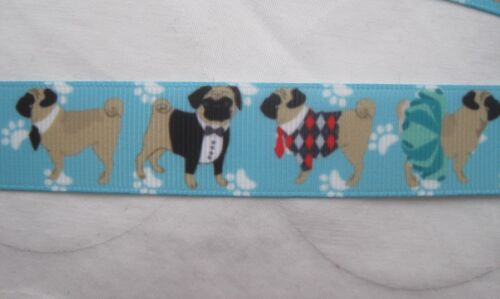 2 sizes Pug dog safety breakaway lanyard keys ID badges ribbon grooming  gift