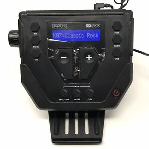 Simmons Electronic Drum SD500 Control Sound Module, Brain and Wiring Harness
