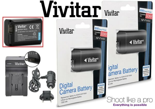 2-pc Np-fw50 Batterie Li-ion Avec Chargeur Rapide Pour Sony Ilce-7s Ii A7s Ii M2 Soulager La Chaleur Et La Soif.