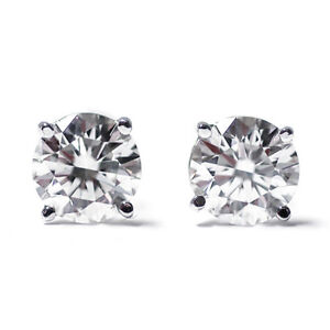 Image Is Loading 0 20 Ct 14k White Gold Diamond Stud