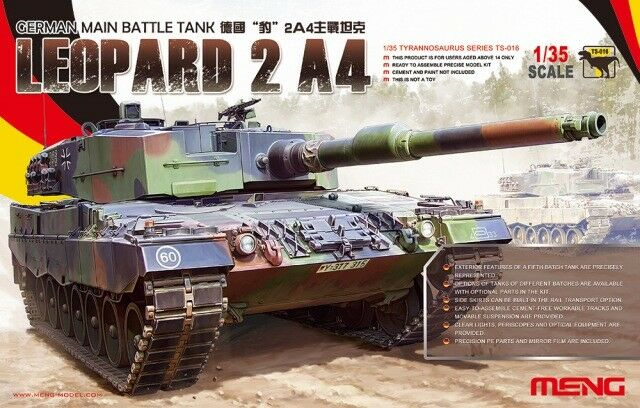 Meng Models 1 35 German Main Battle Tank Leopard 2A4