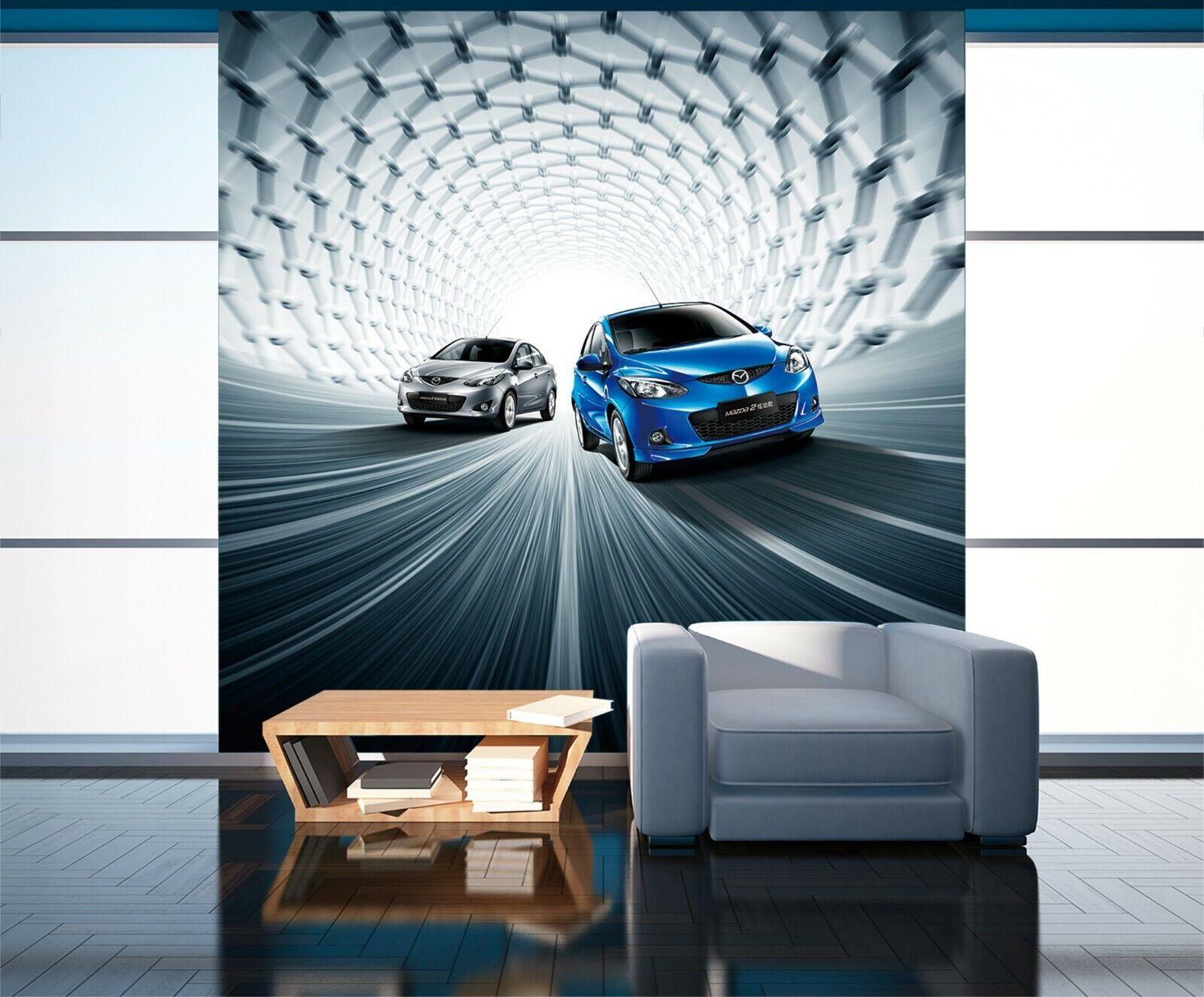 3D Mazda Car I23 Transport Wallpaper Mural Sefl-adhesive Removable Angelia