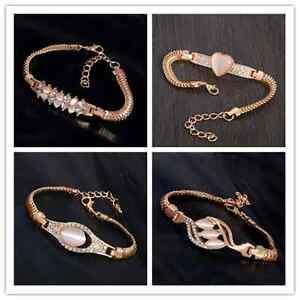 Charm-Luxury-Austrian-Crystal-Cuff-Bracelet-Women-Rhinestone-Bangle-Chain-Gifts