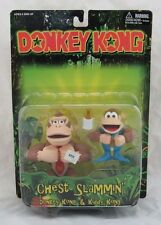 Donkey Kong Chest Slammin Donkey Kong & Kiddy Kong Action Figure New in Package