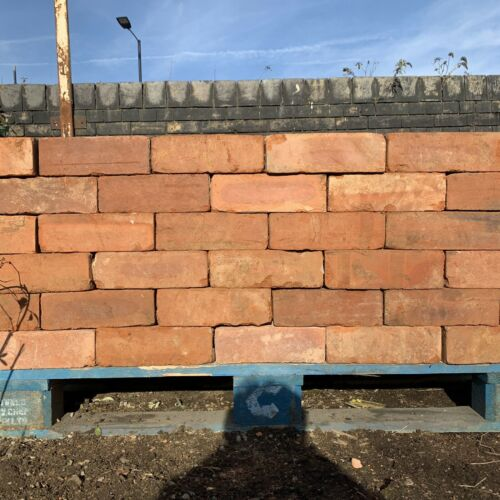 CLEANED AND READY TO USE+ Vintage Imperial Red Reclaimed Bricks Mould Handmade