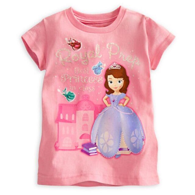 09d2143b87e5 DISNEY STORE SOFIA THE FIRST GIRLS TEE T-SHIRT ROYAL PREP BEST PRINCESS NWT