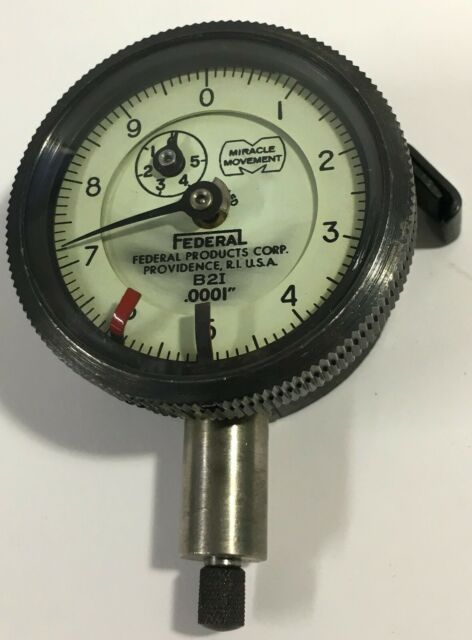 "Federal Mahr BK-1600 Lug Style Back for /""B/""  Series Dial Indicator Group 1"