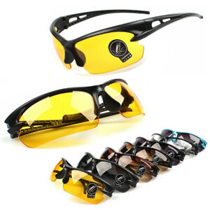 UV400-Night-Vision-Cycling-Riding-Driving-Glasses-Sports-Sunglasses-Goggles-NEW