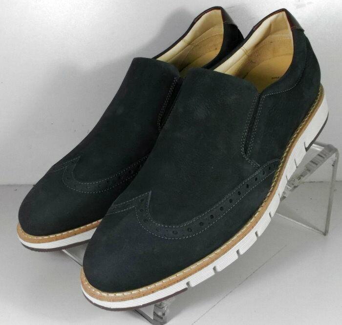 273119 SP50 Men's Shoes Size 9 M Navy Leather Slip On Johnston & Murphy