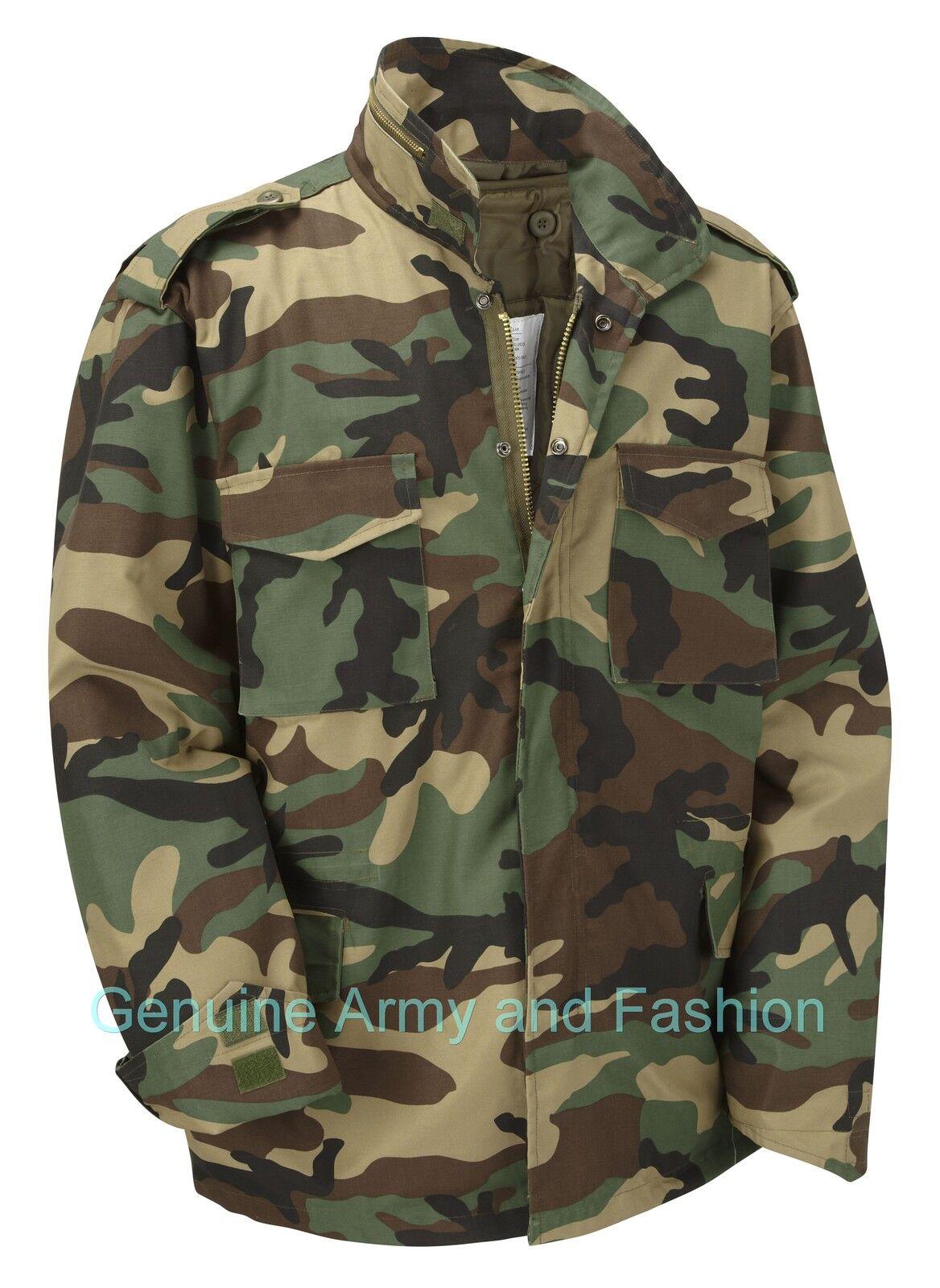 VINTAGE M65 JACKET US MILITARY ARMY FIELD COMBAT XS S M L XL 2XL 3XL 4XL 5XL 6XL