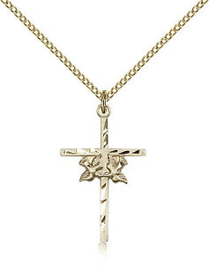 Gold-Filled-Cross-Necklace-For-Women-On-18-034-Chain-30-Day-Money-Back-Guarantee