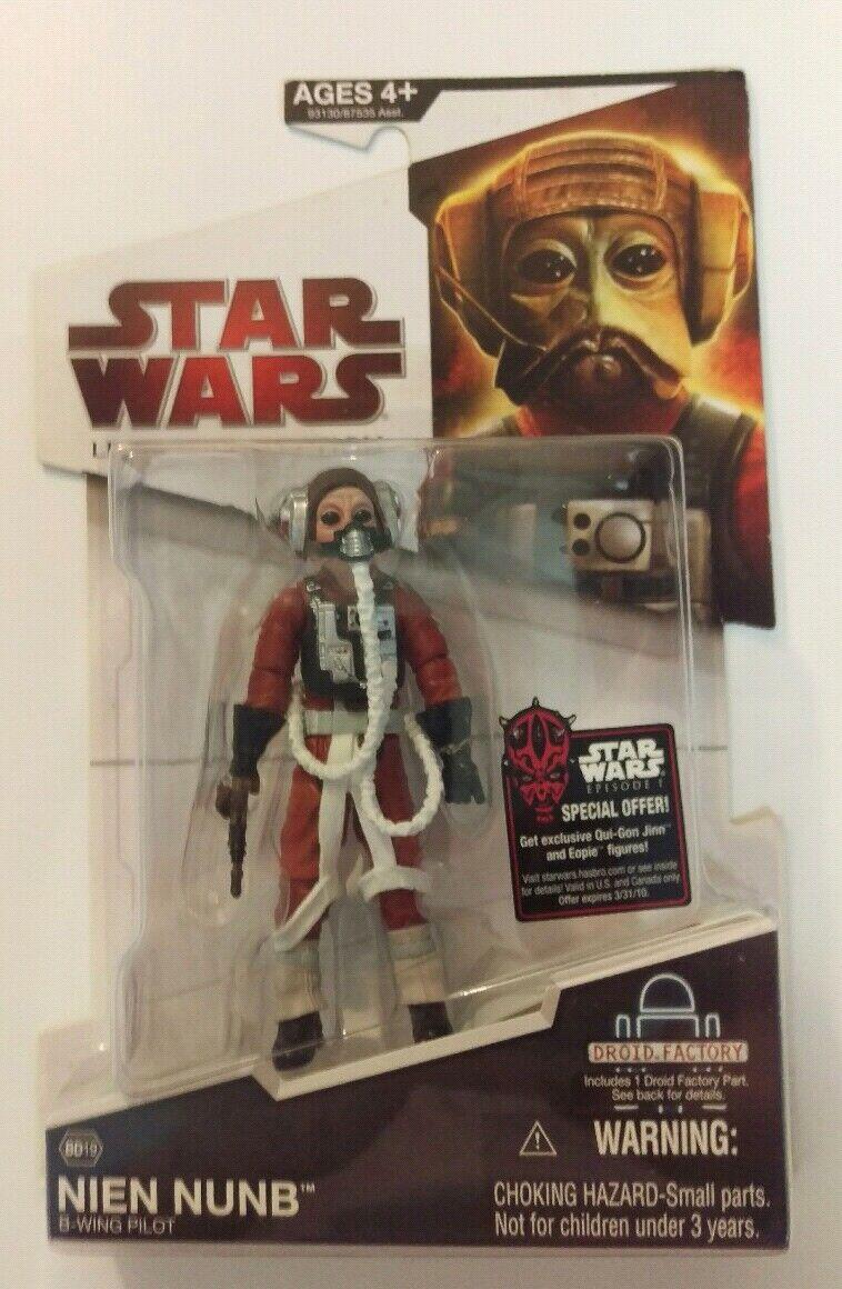 NEW 2009 Star Wars ✧ Nien Nunb ✧ Legacy Collection BD19 MOC numb build a droid