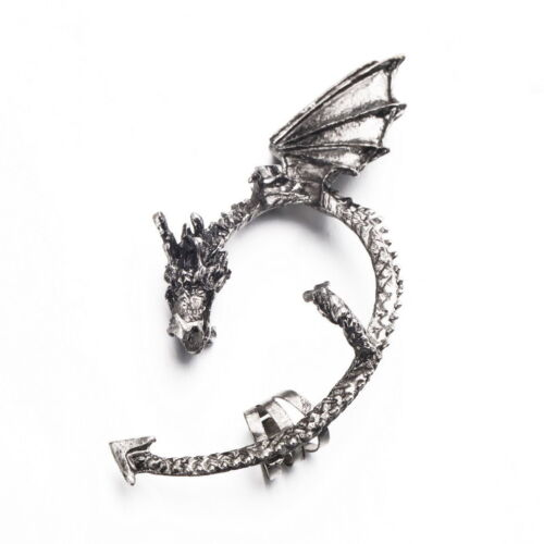 Angry Dragon Wrap Ear Cuff Gothic Rock hot Earring silver or gold for 1 ear