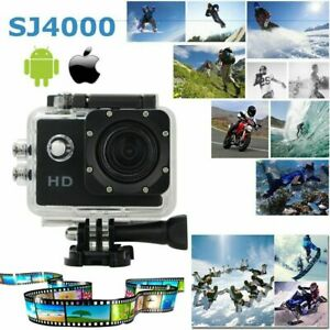 A Prueba De Agua Cámara Videocámara GoPro Deportes Acción Cámara Dvr Full Hd 1080P SJ4000