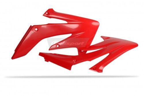 Red or White Polisport Plastic Radiator scoop HONDA CRF250 04-09 Black