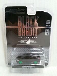 Rare-Greenlight-Black-Bandit-Collection-2011-Honda-Civic-Si-Green-Machine-Chase