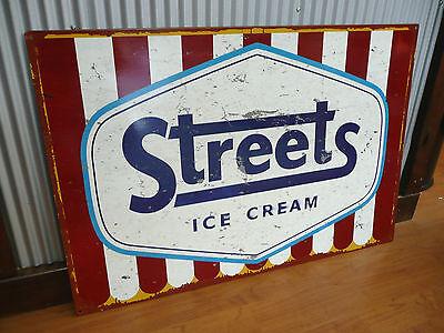 Large Streets Ice Cream Metal tin sign Man cave bar Garage shop advertising