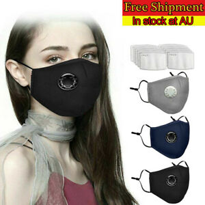 10X PM2.5 Anti Air Pollution Face MASK Respirator With Filters Washable&Reusa