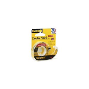 """3~ Scotch DOUBLE SIDED Tape Permanent Photo Safe 1//2/"""" W x 450/"""" L Clear CLIP-137"""