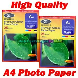 50-Sheets-High-Quality-Premium-Glossy-A4-260gsm-Gloss-Photo-Paper