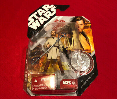 NEW Star Wars Hasbro Obi-Wan Kenobi Jedi Knight figure 2008 ROTS TAC 30th #1