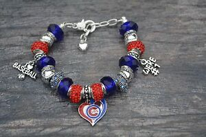 Image Is Loading Chicago Cubs Bracelet Jewelry Baseball Charm