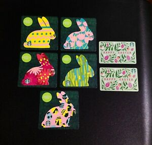 CANADA-2020-STARBUCKS-EASTER-GIFT-CARD-COMPLETE-SET-OF-7-PCS-NEW
