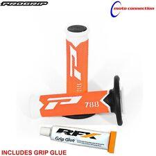 PRO GRIP 788 LTD FLO ORANGE GRIPS & RFX GRIP GLUE FOR KTM SXF250 SXF350 SXF450