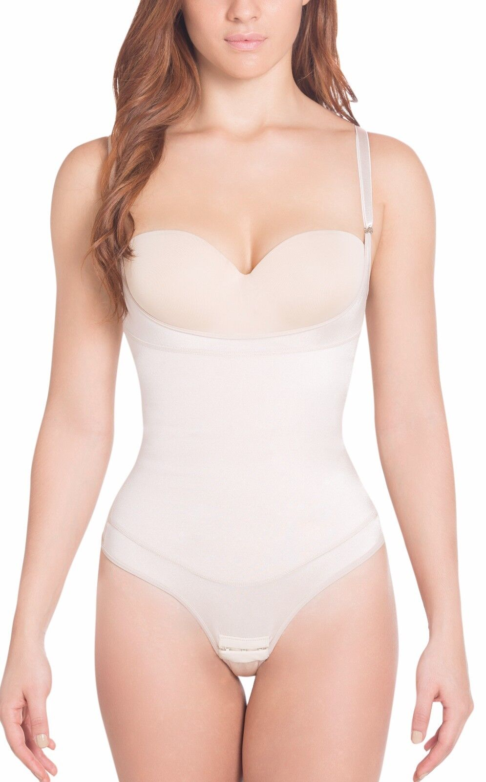 Siluet® Extra-Strength Compression Invisible Thong Braless Body Shaper.