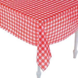 Image Is Loading Red And White Checkered Tablecloths 52 034 X