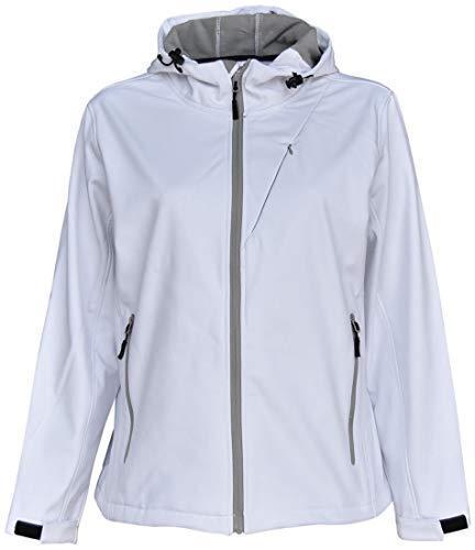 Nuevo Nuevo Nuevo pulso para mujer con capucha chaqueta de cáscara suave Talla Grande 1X 2X 3X 4X 5X 6X blancoo 2281a3