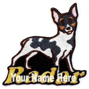 Rat Terrier Dog Custom Iron-on Patch With Name Personalized Free
