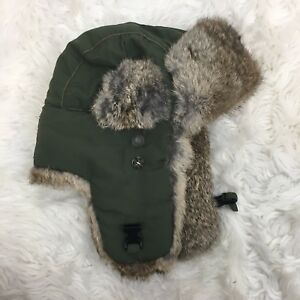 Mad Bomber Men s Gray Real Natural Rabbit Hair Bomber Hat Size Small ... 612c5657c4b7