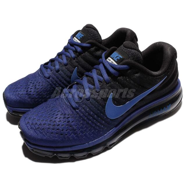 best website 5f123 e1a40 Men's Nike Air Max 2017 Running Shoes Black Palm Green 849559-006 Size 11