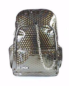 CHOK-HOLO-BRONZE-3D-REFLECTIVE-BACKPACK-RUCKSACK-Rave-Unisex-School-College-Bag