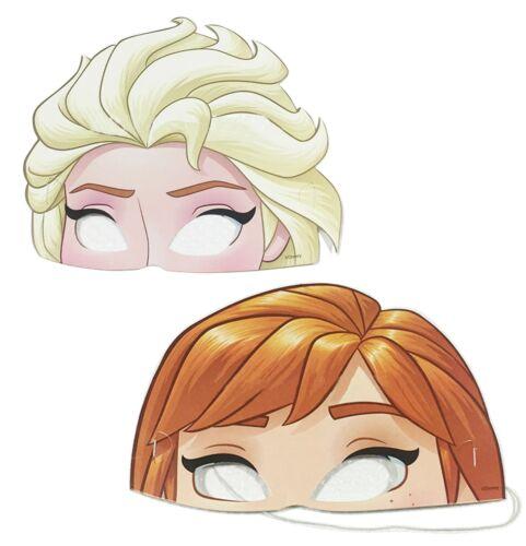 6x Childrens Kids Frozen Elsa/&Anna Elsa Masks Dressing up Party Bag Theme Partys