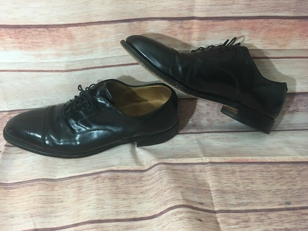 Johnston & Murphy Optima Black Leather Captoe Oxfords Men's size 10 b shoes