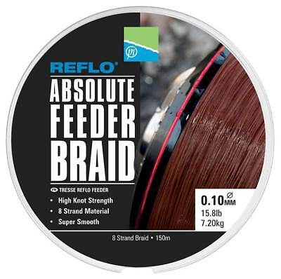 Preston REFLO Absolute Feeder Braid 150m *All Diameters* 8 strand braid