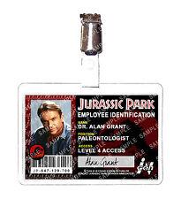 Jurassic Park ID Badge Ingen Staff Dr. Alan Grant Dinosaur Cosplay Comic Con