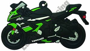 Kawasaki-ZX6R-rubber-key-ring-motor-bike-cycle-gift-keyring-chain