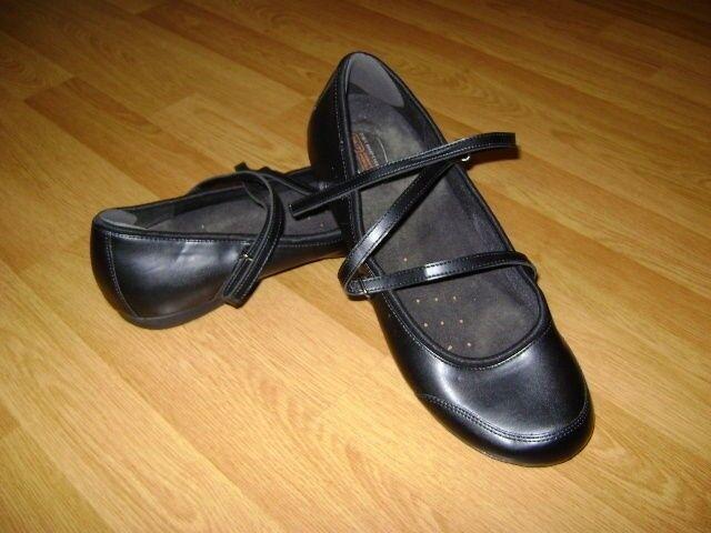 Safe Step Mary Janes en cuir noir Sz 11