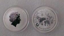 "Australian Lunar II ""Year of the Goat""  Privy Lion 2015, 1 Oz Silver coin"