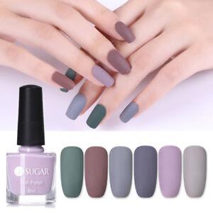 Details about 6ml UR SUGAR Matte Nail Polish Pure Tips Nail Art Varnish  Gray Series