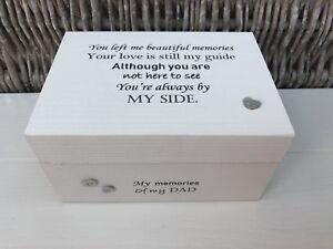 MEMORIAL DAD FATHER Memory Box PERSONALISED Keepsake ANY NAME Bereavement Large