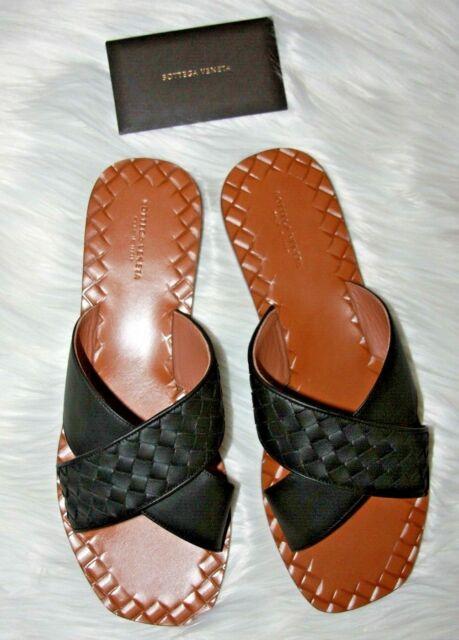 Bottega Veneta Ravello Crossover Sandal Black Euro 40 C wide