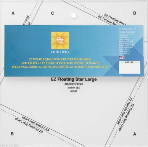 EZ Quilting Quilters Craft Patchwork Square Rectangle Ruler Triangle 51 Template