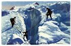 CPA 74 Haute-Savoie Chamonix Ascension Passage d'une crevasse au Mont-Blanc