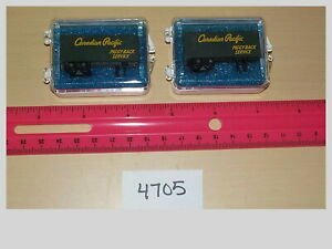 N-Scale-Set-of-2-Canadian-Pacific-Piggy-Back-Service-Freight-Trailers-4705